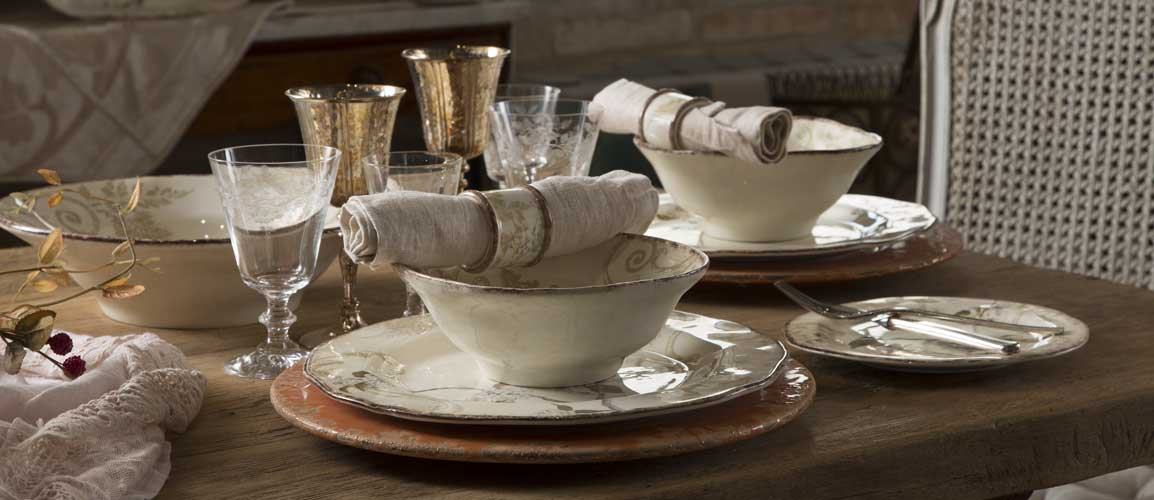 Romantic intimate and smooth like a Chopin symphony Chopin is a tableware service designed for those who love traditional shapes and colors. & Chopin u2013 Ceramiche Bizzirri